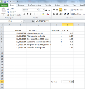 facturacion manual en excel